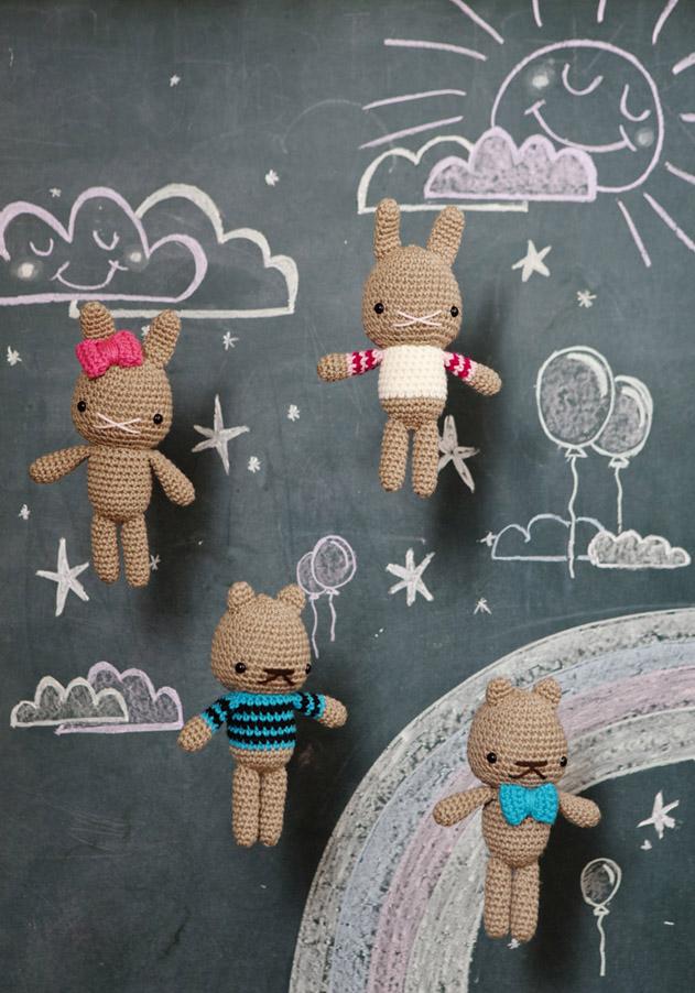 Amigurumi doudous au crochet, patron gratuit sur Peppermintmag.com