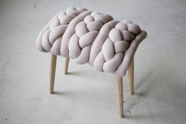 mobilier habillé de tricot