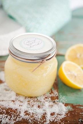 Recette de soin exfoliant pour le corps au sel de mer et citron