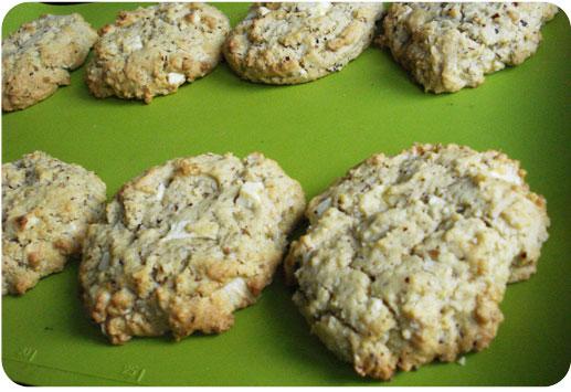 cookies aux noix et au chocolat blanc