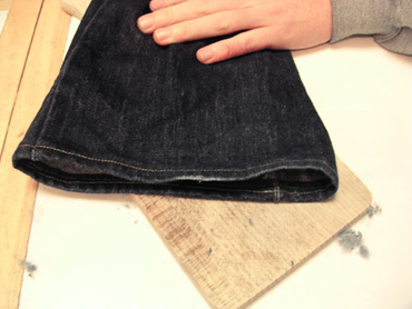 Jean vintage customisé - Etape 1