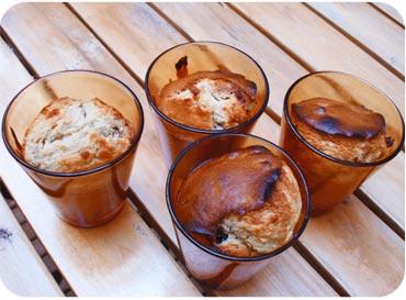 Les Muffins américains - chocolat blanc, cramberries, noix de pécan
