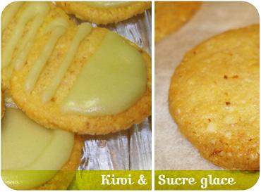 Sablés de Noël - recette - glaçage kiwi et sucre glace